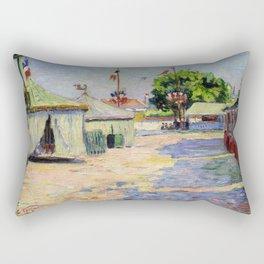 """Paul Signac """"Asnières"""" Rectangular Pillow"""