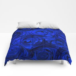 China Blue Rose Abstract Comforters
