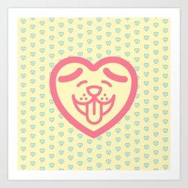 Puppy Love (Pink) Art Print