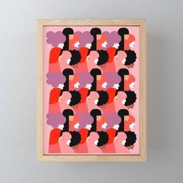 Together Girl Power - Pattern #girlpower Framed Mini Art Print