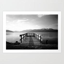 Sunrise Dock Art Print