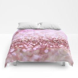 Pink Sparkle shiny glitter effect print - Sparkle Valentine Backdrop Comforters