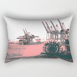 paddle wheel in hamburg Rectangular Pillow