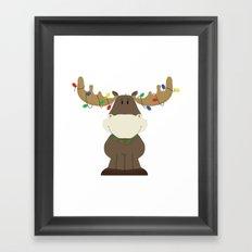 Merry Christmoose! Framed Art Print