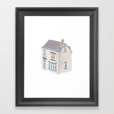 Little Village House Framed Art Print