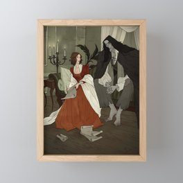 Mary Shelley and Her Creation Framed Mini Art Print