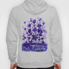 Floral Charm No.1A by Kathy Morton Stanion Hoody
