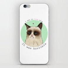 Grumpy cat love iPhone & iPod Skin