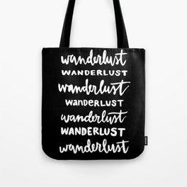 Wanderlust Black/White Tote Bag