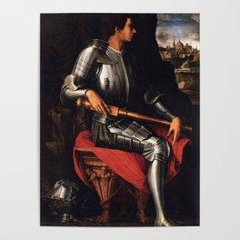Lorenzo Medici in armor Poster
