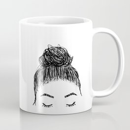 messy girl bun Coffee Mug