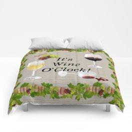 It's Wine O'Clock Comforters