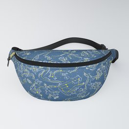 Constellations of the Northern Sky - Negative version Fanny Pack