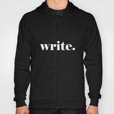Write, black Hoody