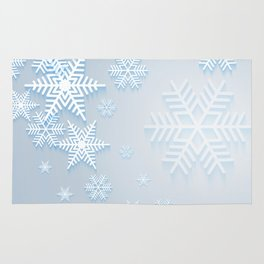 Snowflake background Rug