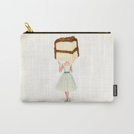 Cake Head Pin-Up - Chocolate Carry-All Pouch
