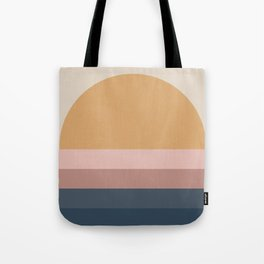 Neutral Retro Sunset Tote Bag