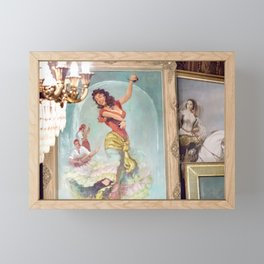 The Gypsy Dancer And Musiciens Framed Mini Art Print