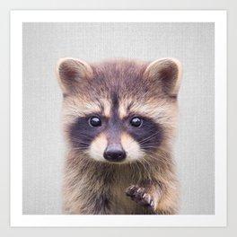 Raccoon - Colorful Art Print