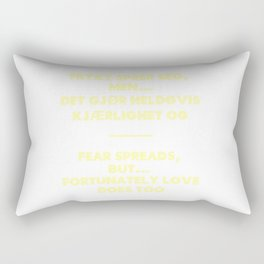 SKAM - Fear spreads, but fortunately love does too. Rectangular Pillow