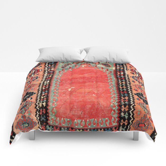 Sivas  Antique Cappadocian Turkish Niche Kilim Print Comforters