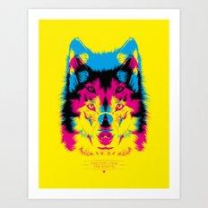Wolf CMYK Art Print