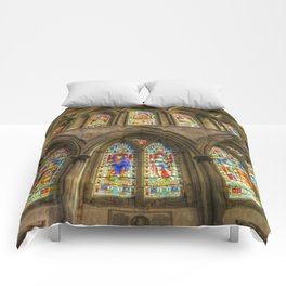 Rochester Cathedral Stained Glass Windows Comforters