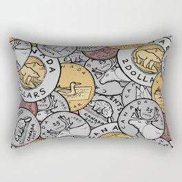 Canadian Coins Rectangular Pillow