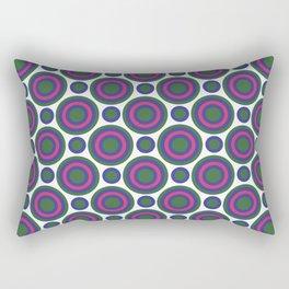 Circle Circle: Small: Kelly Green, Blue + Fuchsia Rectangular Pillow