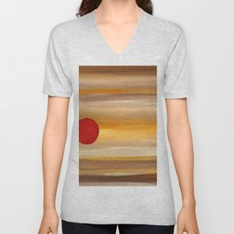 Acrylic Abstract Painting Sunny Day Unisex V-Neck