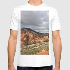 Red Canyon MEDIUM Mens Fitted Tee White