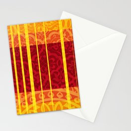 Rectangles and Stripes floral Mosaic Stationery Cards