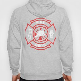 Distressed Firefighter Fire Department Symbol Hoody