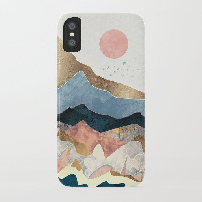 Golden Peaks iPhone Case