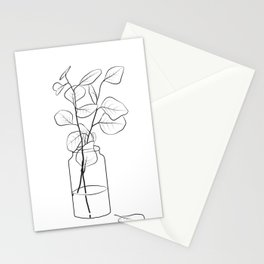 Eucalyptus Branch in a Vase Stationery Cards