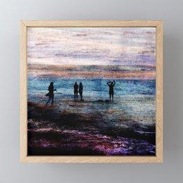 Evening at the beach Framed Mini Art Print