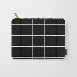 White Grid - Black BG Carry-All Pouch