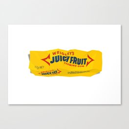 Discarded gum wrapper Canvas Print