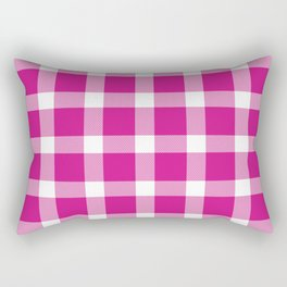 Plaid Hot Pink Rectangular Pillow