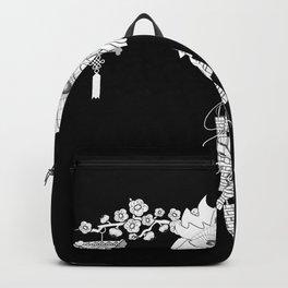 Japan mask Asia Oni Hannya Samurai japan Backpack