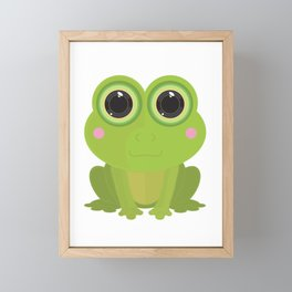 Frog Framed Mini Art Print