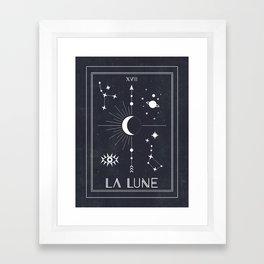 The Moon or La Lune Tarot Framed Art Print