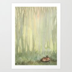 Morning Forest Art Print
