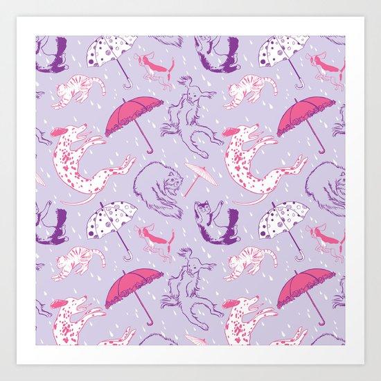 Raining Cats and Dogs Art Print