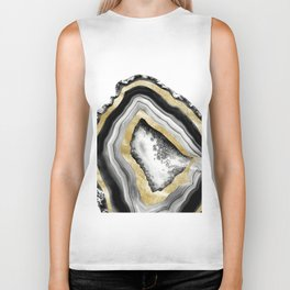Agate Gold Foil Glam #1 #gem #decor #art #society6 Biker Tank