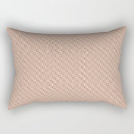 Cavern Clay SW 7701 and Creamy Off White SW7012 Grid Tessellation Stripe Lines Weave Pattern Rectangular Pillow