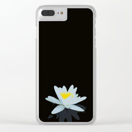 Waterlily Flowers On Black Background #decor #society6 #buyart Clear iPhone Case