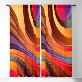Abstract Colorful Swirls Blackout Curtain