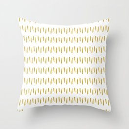 Yellow Pattern Throw Pillow