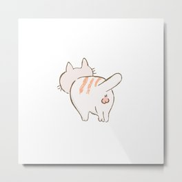 Cat Behind Metal Print